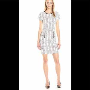 Sharango Checkered  Short Sleeve Tweed Dress